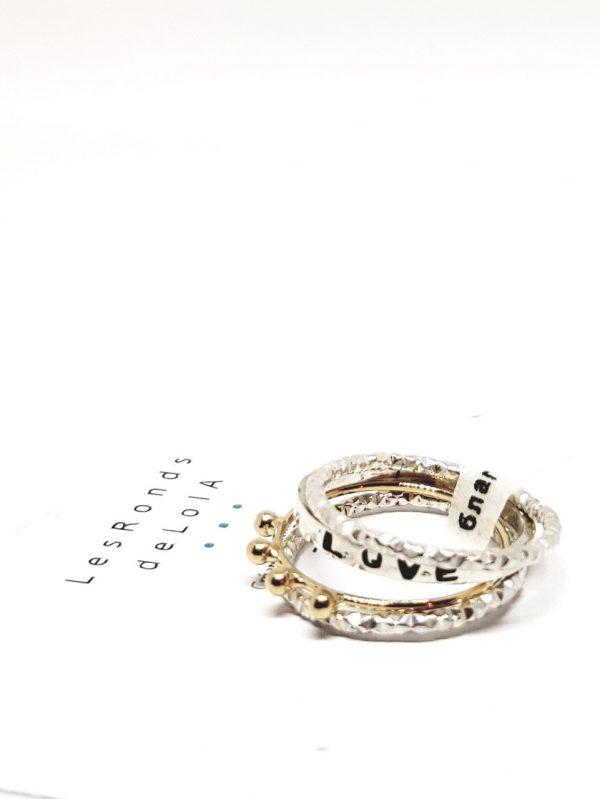 Bagues composition bijoux fins