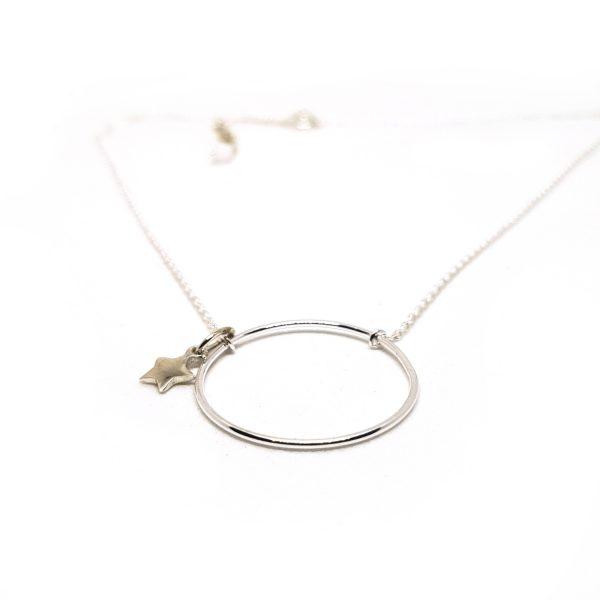 Collier anneau fin Eternity