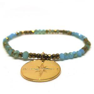 bracelet talisman plaqué or