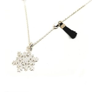 Collier flocon noir