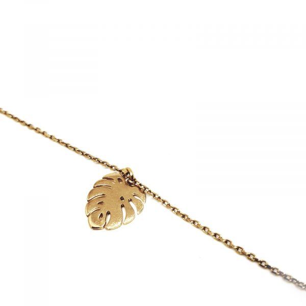 Collier Monstera Or