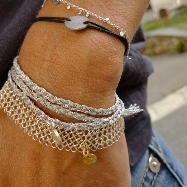 wish argent bracelet gris