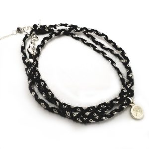 Wish noir Bracelet collier