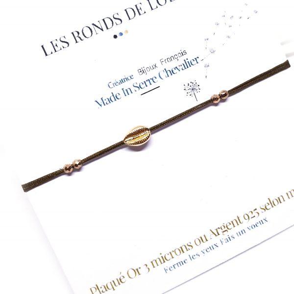 Bracelet réglable Cauri Bronze