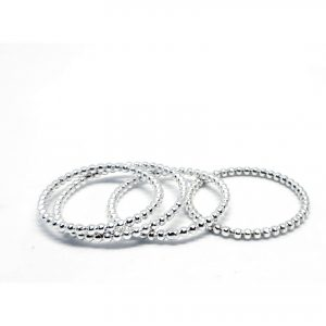 anneaux boules argent