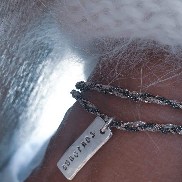 Bracelet gravé Toujours argent massif - bijou créateur