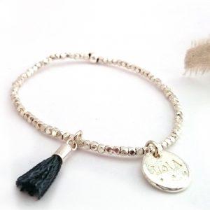 Bracelet Maxi pépites argent massif